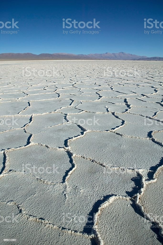 Desiccated Salt Lake royalty-free stock photo