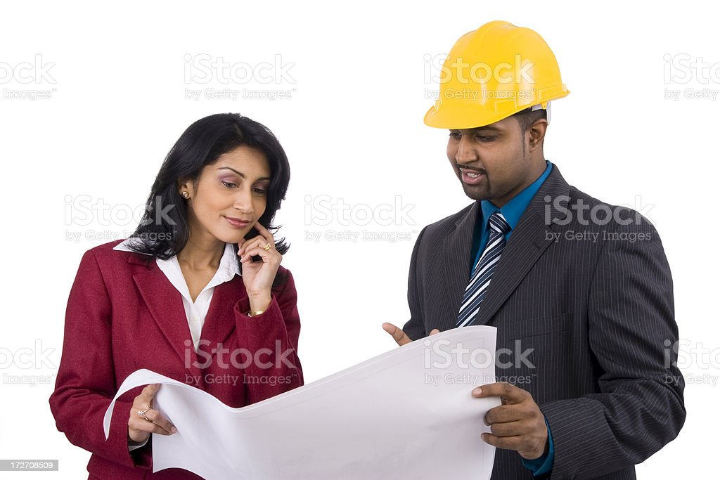 Design and Construction Team royalty-free stock photo