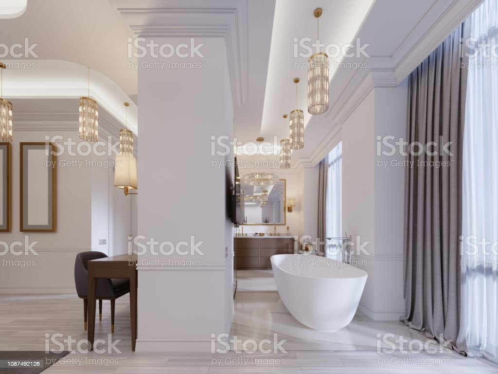 Photo libre de droit de Appartement Design Avec Espaces ...