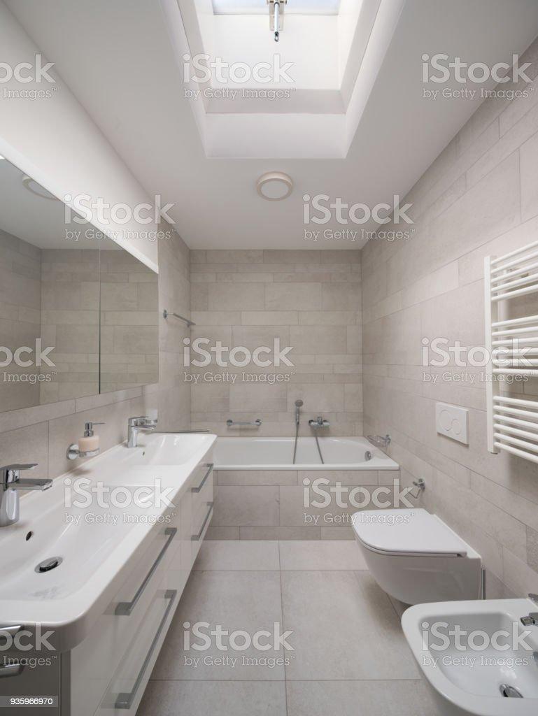 Design bathroom in modern home stock photo