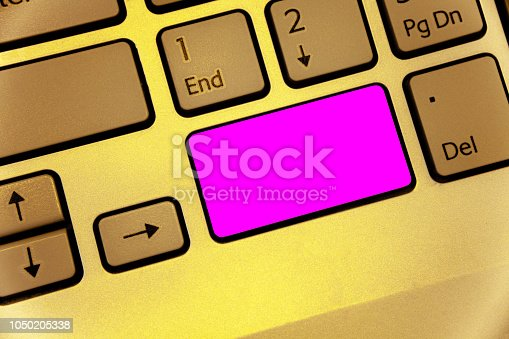 istock Design business concept Business ad for website promotion banners empty social media ad Keyboard purple key Intention create computer computing reflection document 1050205338