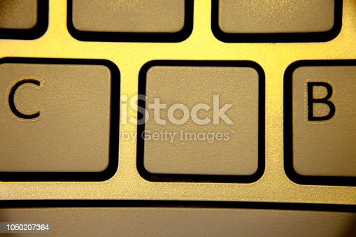 istock Design business concept Business ad for website promotion banners empty social media ad Keyboard brown yellow key Intention create text computer messages paper 1050207364