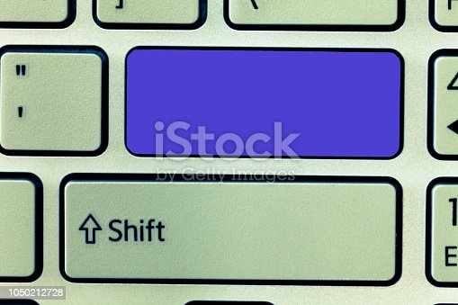 istock Design business concept Empty copy text for Web banners promotional material mock up template Keyboard key Intention to create computer message, pressing keypad idea 1050212728
