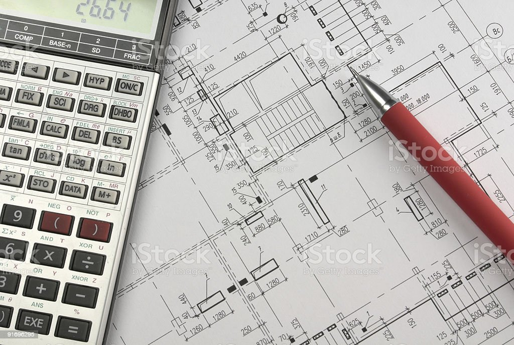Design calculations royalty-free stock photo