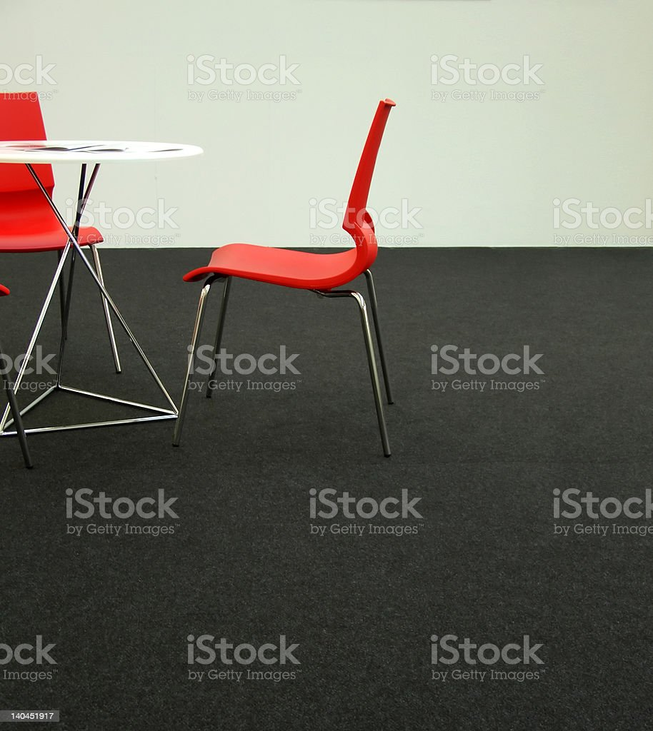 Design chairs and table royalty-free stock photo