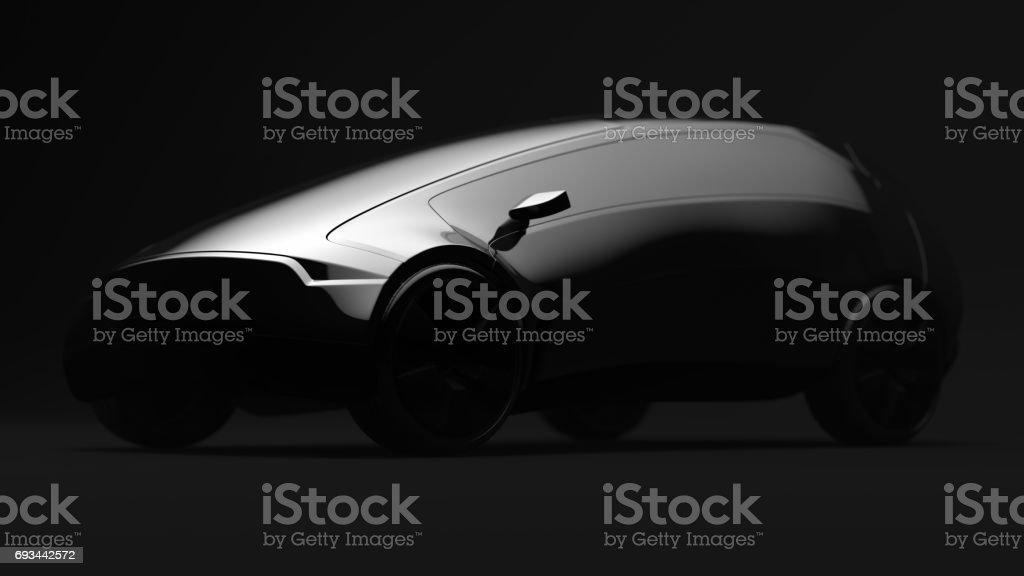 Design concept black car. 3d render stock photo