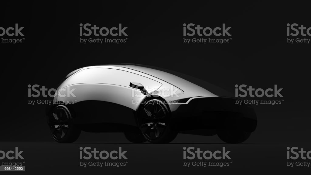 Design concept car, 3d render stock photo