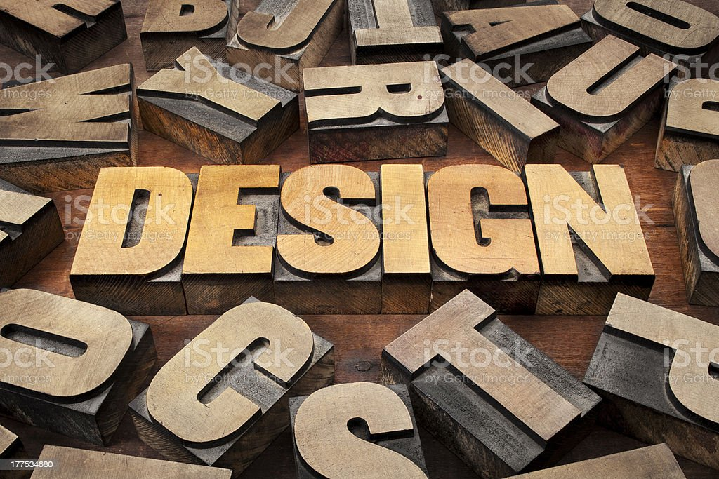 design concept in wood type royalty-free stock photo
