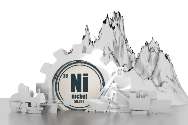 design concept of coal mining industry. - nickel stock photos and pictures