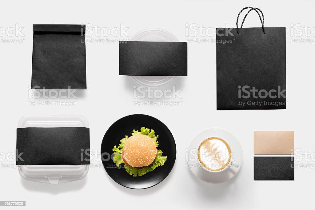 concept de plans de burgers et les pauses-café du temps - Photo