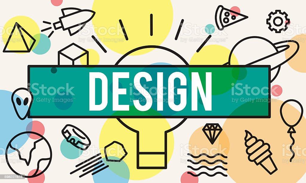 Design Creative Draft Ideas Model Planning Plan Concept foto royalty-free