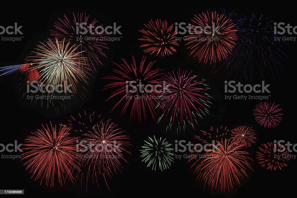 Design element - fireworks stock photo