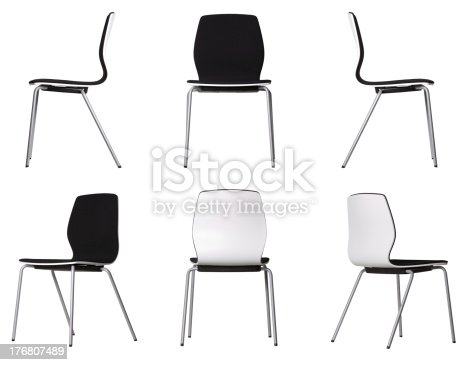 Set of different views of a chair