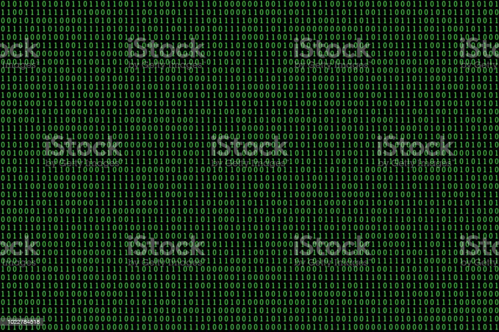 Éléments de design: écran d'aléatoires binaires 1 et 0 - Photo