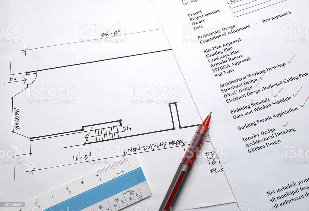 Design fee stock photo istock blueprint business construction industry corporate business design malvernweather Gallery