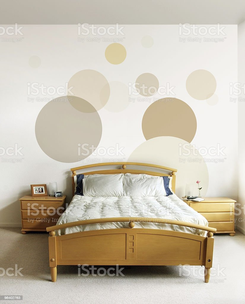 Design in modern bedroom - Royalty-free Bed - Furniture Stock Photo