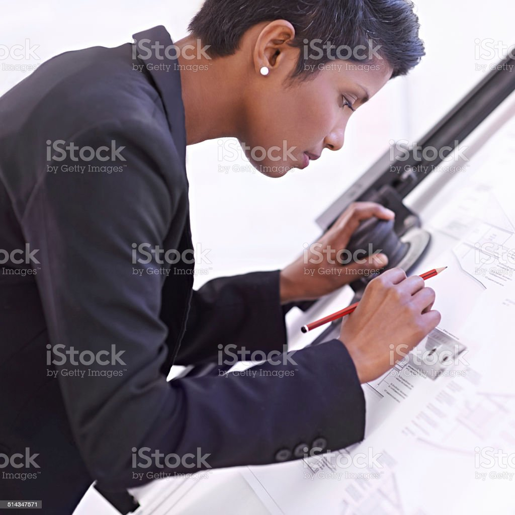Design is her passion stock photo