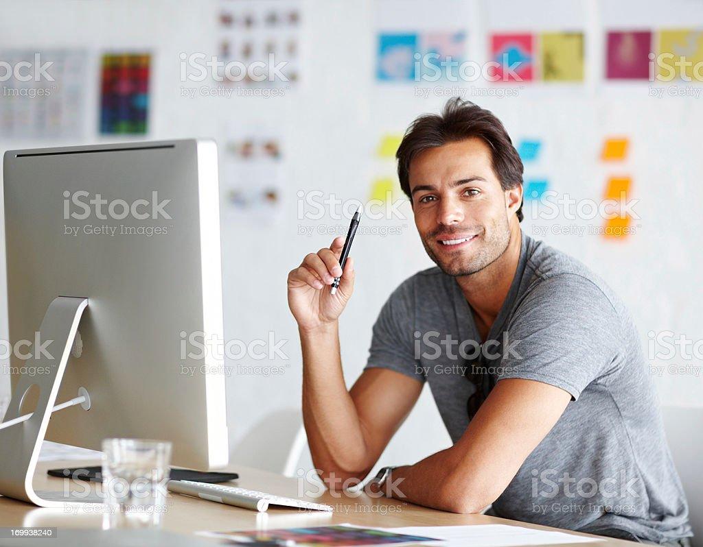 Design is his forte stock photo