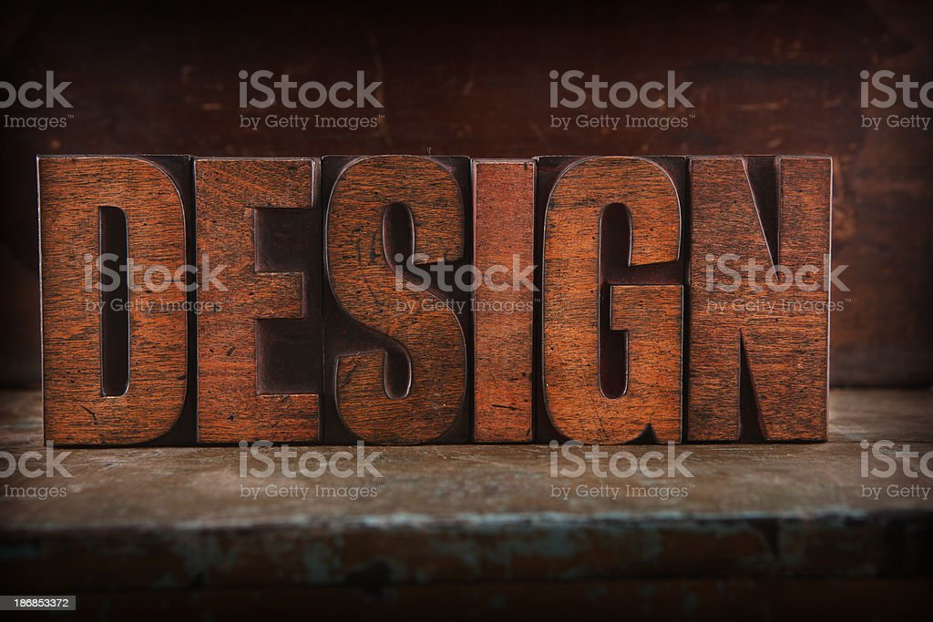 Design - Letterpress letters royalty-free stock photo