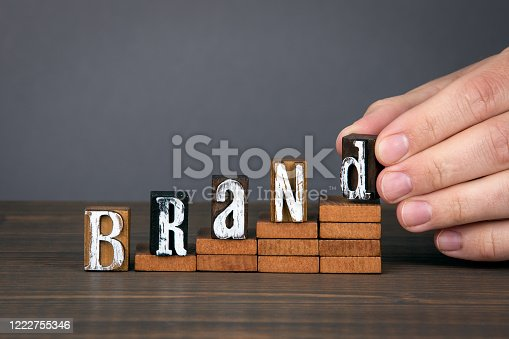 843789992 istock photo BRAND. Design, marketing, management and success concept 1222755346