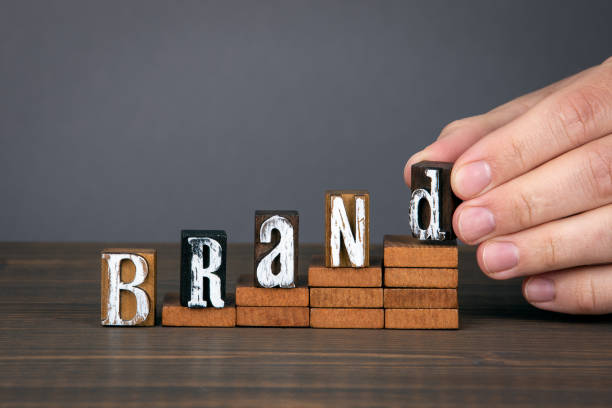 BRAND. Design, marketing, management and success concept stock photo