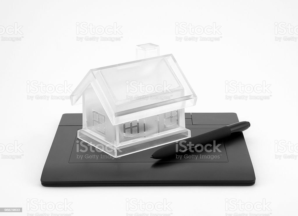 Design new house royalty-free stock photo
