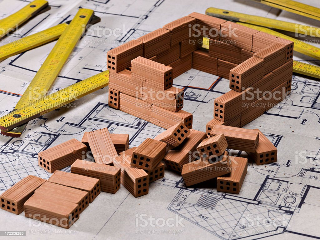 Design of a house royalty-free stock photo