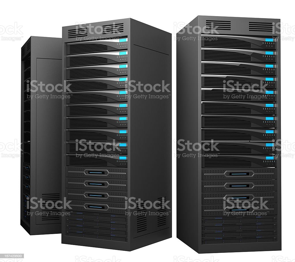 A design of a rack of black high performance servers royalty-free stock photo