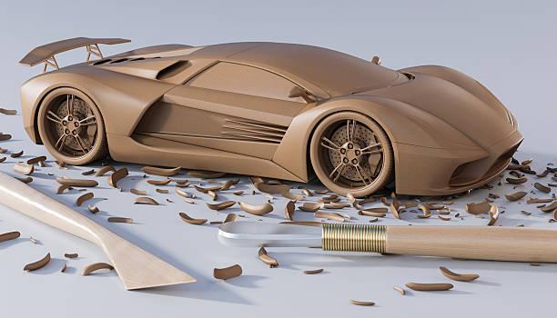 automotive design - skulpturprojekte stock-fotos und bilder