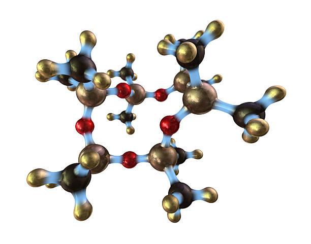 A design of a silicone molecule stock photo