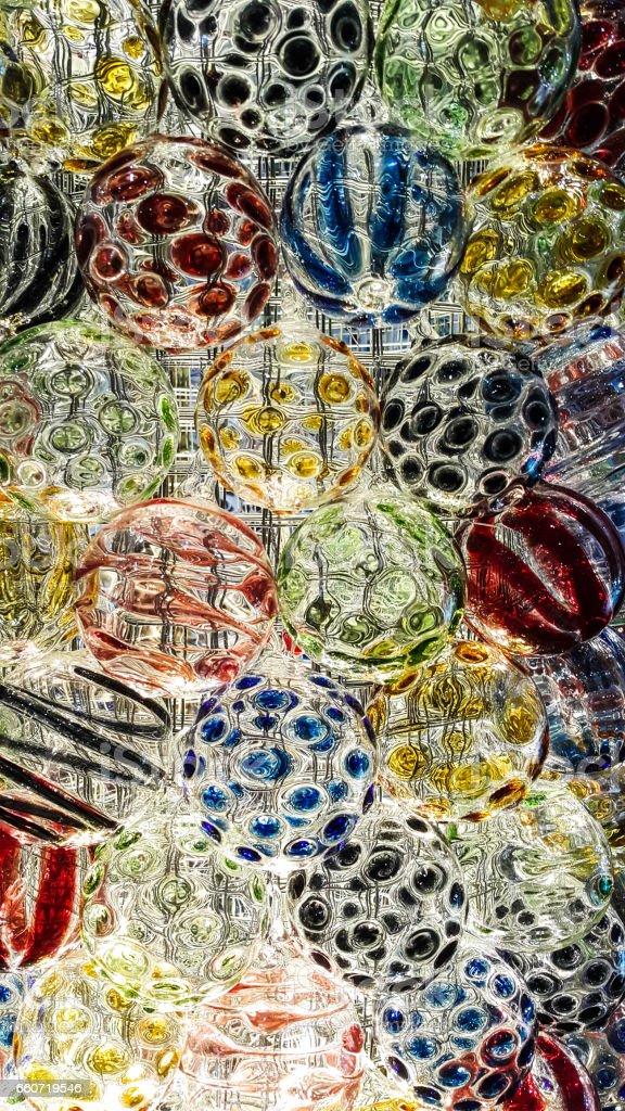 Design of colorful glass ball - foto de acervo