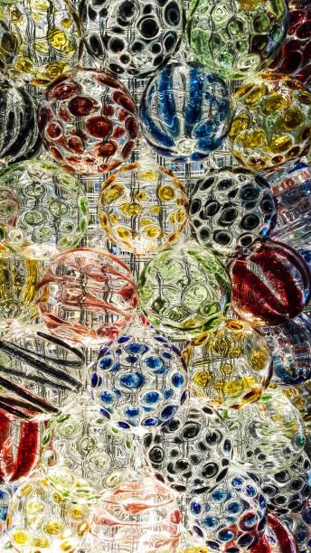 Design of colorful glass ball – Foto