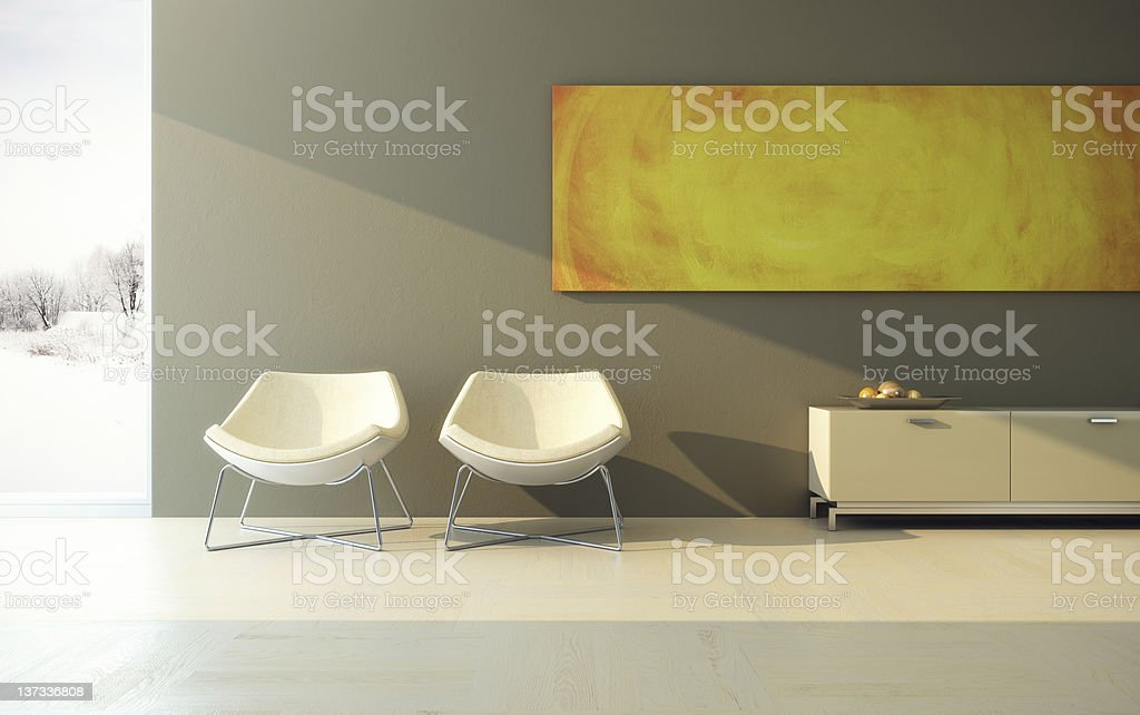 design of lounge room royalty-free stock photo