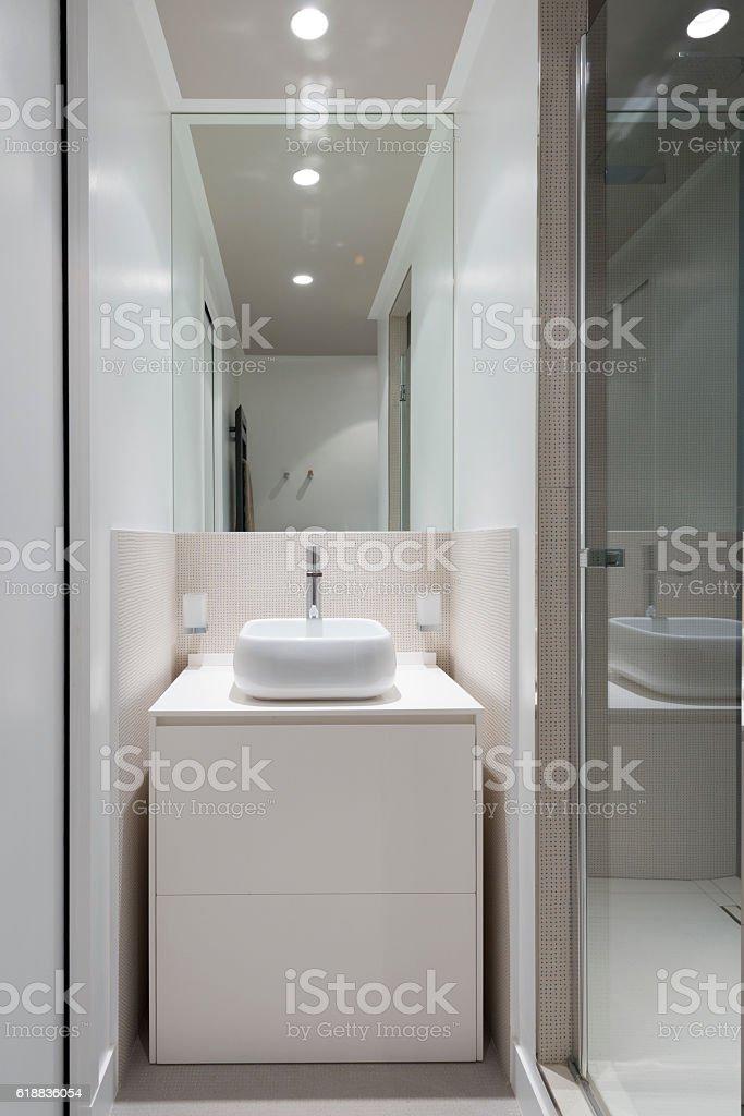 Design Des Modernen Luxus Badezimmer Interieur Stockfoto und mehr ...