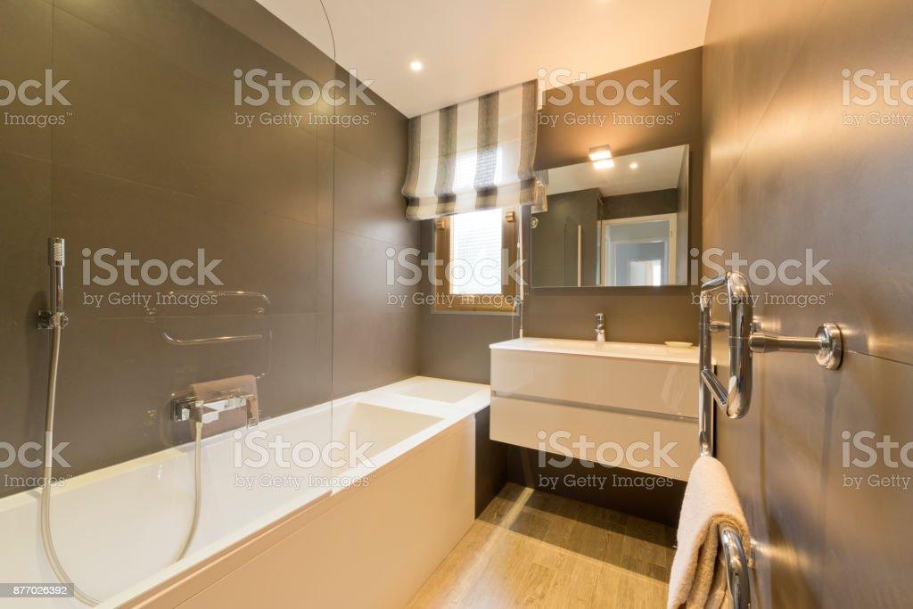 Design Des Modernen Luxus Badezimmer Interieur Stock-Fotografie und ...