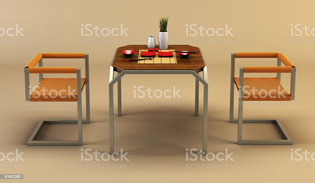 design of the dining room royalty-free stock photo