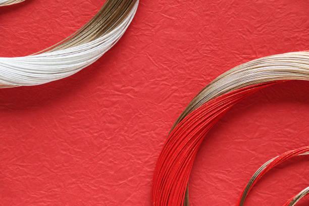 design of washi and mizuhiki wreath - мидзухики стоковые фото и изображения