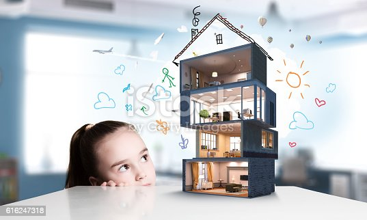 istock Design of your dream house . Mixed media 616247318