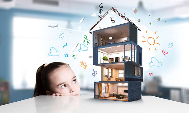 Design of your dream house . Mixed media ストックフォト