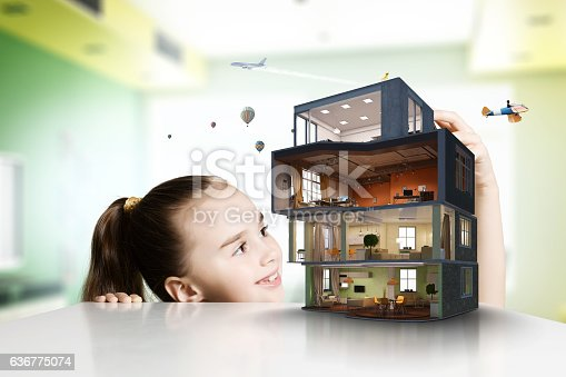 istock Design of your dream house . Mixed media 636775074
