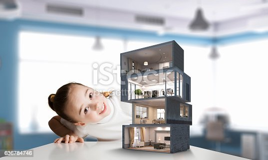 istock Design of your dream house . Mixed media 636784746
