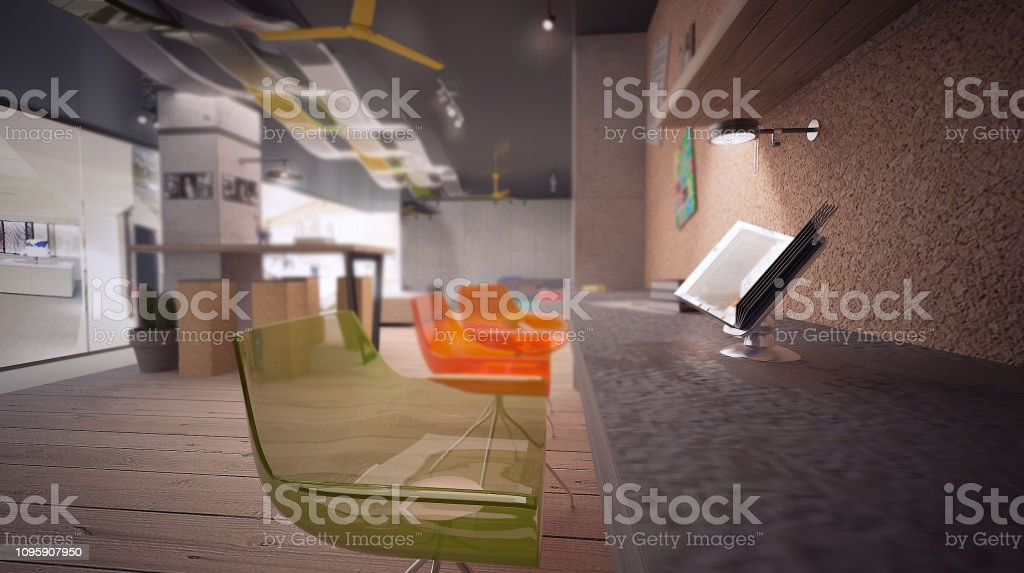 Design Office Render By 3d Software Stock Photo Download Image Now Istock