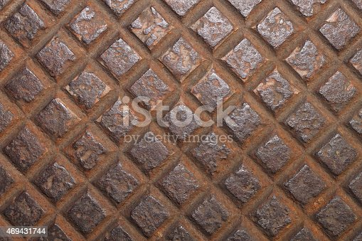 istock Design on steel for pattern and background 469431744