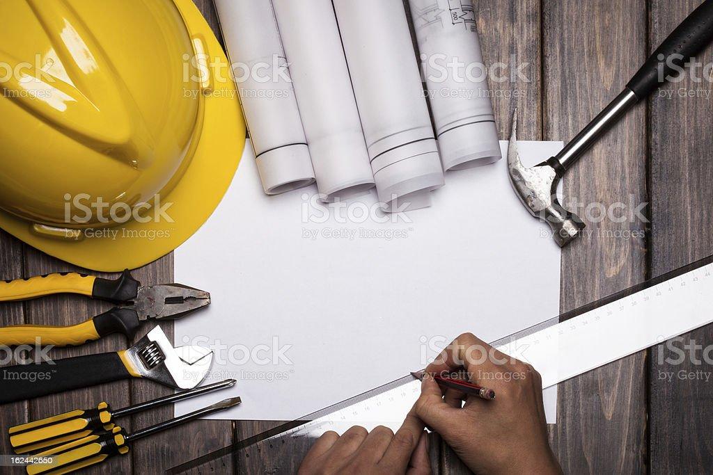 design on white paper stock photo