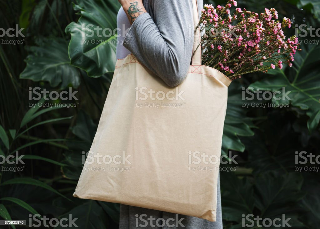 Design space on tote bag stock photo