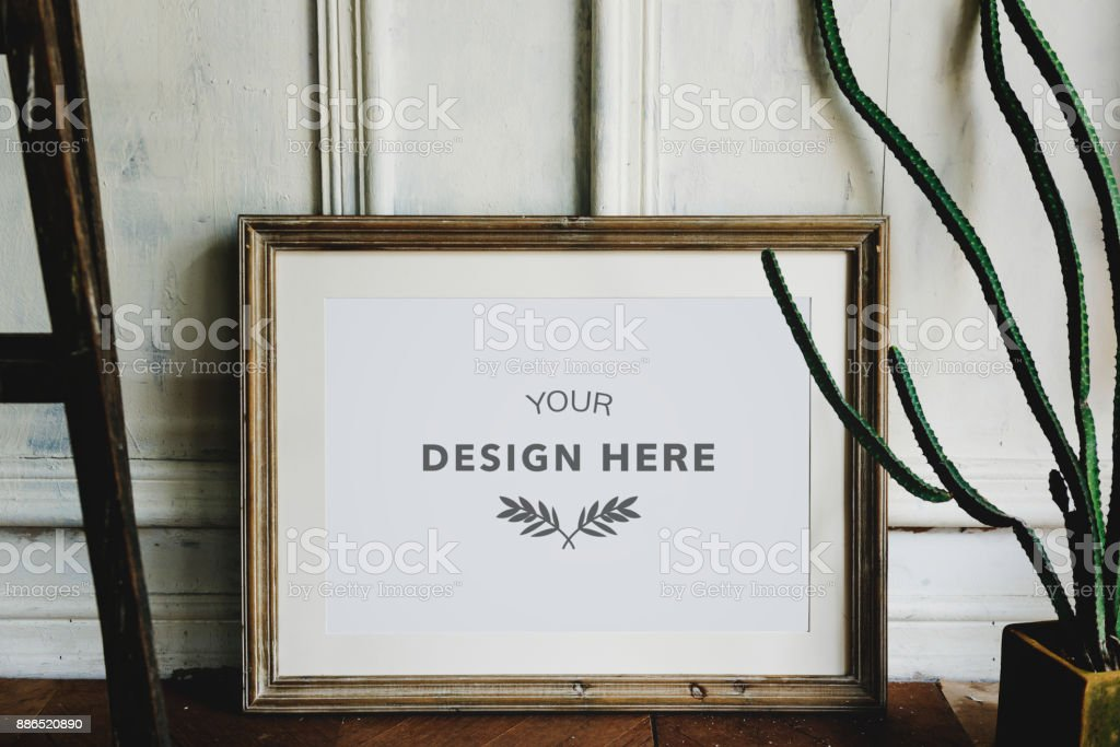Design space photo frame stock photo