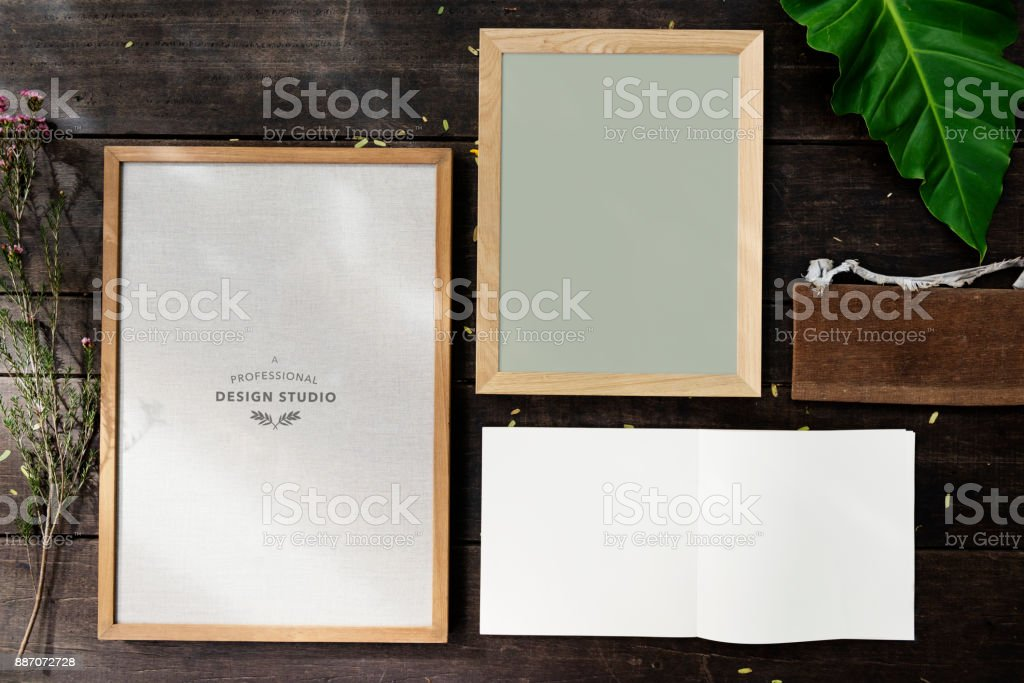 Design space photo with frame stock photo
