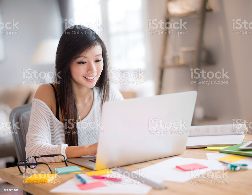 Design student working online stock photo