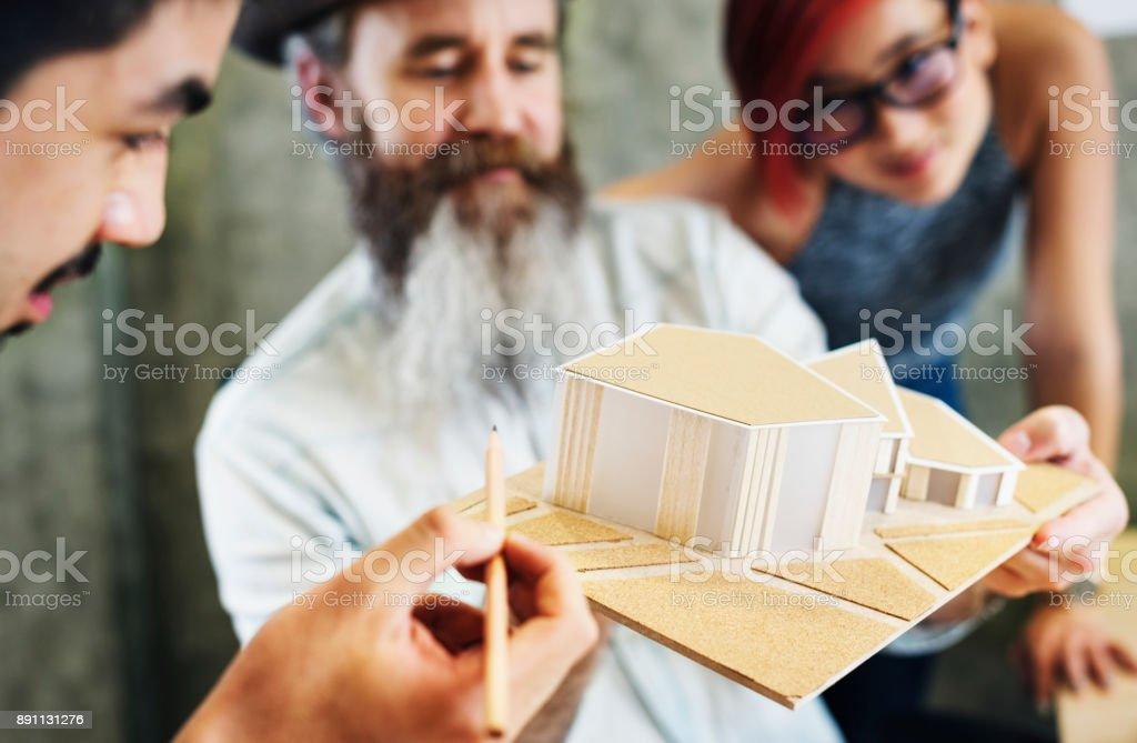 Design Studio Architect Creative Occupation House Model Concept