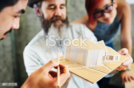 istock Design Studio Architect Creative Occupation House Model Concept 891131276
